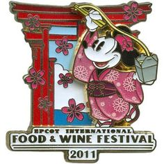 Your WDW Store - Disney Food & Wine Festival Pin - 2011 Minnie Mouse