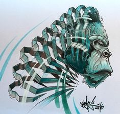 Gorilla. Slice Animal Portraits in Stylised Looks. By JAYN ABS-Crew.
