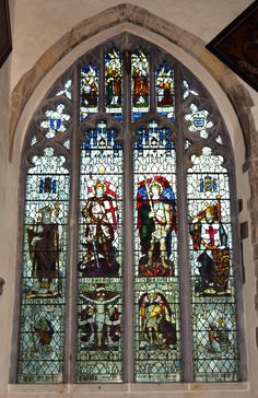 The Crusader window in the Church of St Thomas and St Edmunds @ Salisbury, Wiltshire.UK