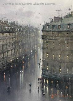 Paris in the rain..,