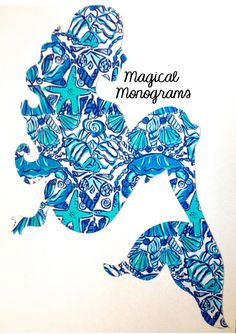 Lilly Inspired Mermaid Decal by MagicalMonograms on Etsy, $7.50