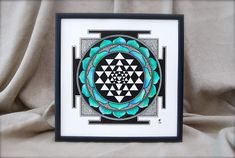 Check out this item in my Etsy shop https://www.etsy.com/listing/533690593/hand-painted-shri-yantra-wooden-frame