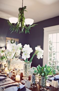 A Winter Holiday Soiree All Things Christmas, Christmas Home, Christmas Ideas, Merry Christmas, Christmas Decorations, Table Decorations, Holiday Decor, Christmas Tablescapes, Holiday Tables