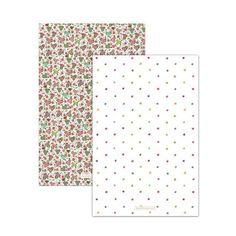 【McCAW ALLAN】Julie Dodsworth Strawberry Fair 2 Tea Towels  ジュリー・ドッズワース ストロベリーフェア ティータオル(2枚組)