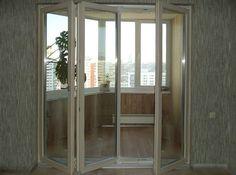 Дверь-гармошка на балконе