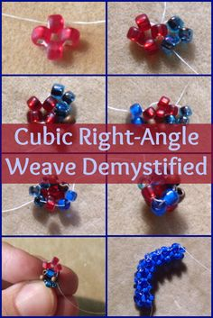 Seed bead jewelry Don't fear the cubic right-angle weave! The secret behind this vital beadweaving technique is revealed in this exclusive beading Beading Patterns Free, Seed Bead Patterns, Jewelry Making Tutorials, Beading Tutorials, Tattoo Diy, Beaded Necklace Patterns, Right Angle Weave, Beading Techniques, Seed Bead Jewelry