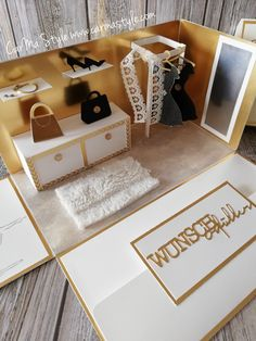 Shopping ganz in Gold – CarMa Style Wedding Picture Frames, Wedding Frames, Wedding Ideas, Paper Doll House, Paper Dolls, Book Making, Card Making, Card In A Box, Diy And Crafts
