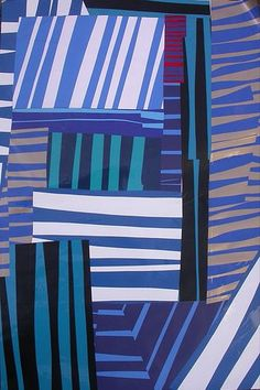 Horizontal and Vertical Line Collage. reminds me of gee's bend quilts. individual work and collaborative?
