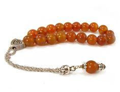 Carnelian Komboloi Greek Worry Beads Metal by sunnybeadsbythesea, $34.00
