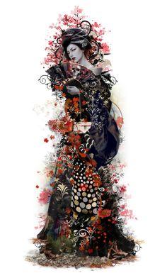 Designer Clothes, Shoes & Bags for Women Japanese Geisha, Horror, Asian, Polyvore, Doll, Manga, Women, Art, Fantasy