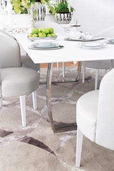 Marble Ambience. Heavenly and sophisticated. #GAhomestyle #Greenapple #Home #dining #decoration #design #marble #table