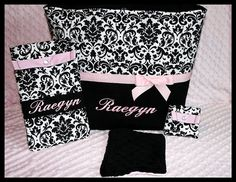 Hey, I found this really awesome Etsy listing at https://www.etsy.com/listing/119310867/boutique-baby-girl-personalized-damask