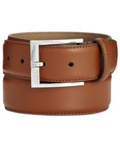 Hugo Boss Men's C-Ellotyo Leather Belt - Brown 36