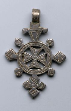 Ethiopia | Silver pendant cross from the Amhara people | 19th - 20th century