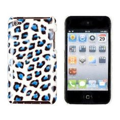 Blue Leopard Print Case for Apple iPod Touch 4G (4th Generation)