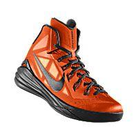 I designed the orange blaze Nike Hyperdunk 2014 iD men's basketball shoe with black trim.