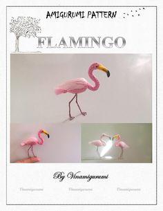 Mini Flamingo Pattern miniature amigurumi animals by Vinamigurumi