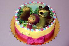 """Фото-торт """"Маша и медведь"""""""