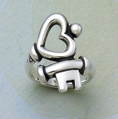 Key to My Heart James Avery Ring size 9-9.5 Perfect for Valentine's Day... *HINT, HINT*