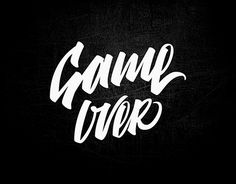 """Check out new work on my @Behance portfolio: """"lettering Game over"""" http://be.net/gallery/45500241/lettering-Game-over"""