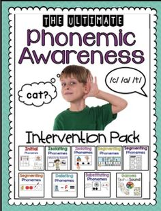 Phonemic Awareness Intervention Pack: Part 2 - Sarah's Teaching Snippets Phonemic Awareness Activities, Phonics Activities, Reading Activities, Teaching Reading, Phonemic Awareness Kindergarten, Guided Reading, Classroom Activities, Emergent Literacy, Kindergarten Literacy