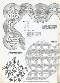 View album on Yandex. Crochet Table Runner, Crochet Tablecloth, Crochet Doilies, Doily Patterns, Embroidery Patterns, Crochet Patterns, Filet Crochet Charts, Crochet Borders, Crochet Home