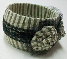 DIY Chunky Fabric Bracelet