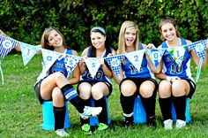 A fun idea for Senior Pictures. Doing this with all the other seniors on each team of my senior year(: