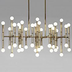 Meurice Rectangular Chandelier by Jonathan Adler (available in nickel and Oil Rubbed Bronze finish) $1144.00