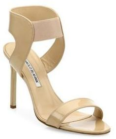 Manolo Blahnik Pepe Patent Leather Sandals