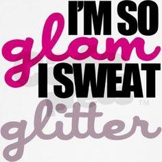 Sweat glitter