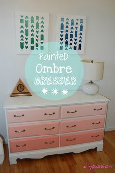 Furniture Reclaim: Coral Ombre Dresser