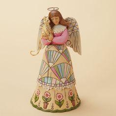 Figura angel CLASSIC ANGEL WITH CAT de Jim Shore. See more at http://www.lacasadelocio.es/