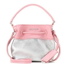 Miu Miu Mini Leather Bucket Bag