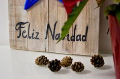 Diariodeco9: Diy Feliz navidad con madera de palet y lazo   Decorar tu casa es facilisimo.com