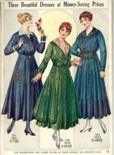 1916 Catalog Image Of Dresses