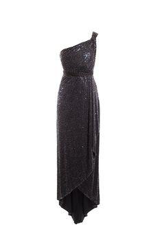 SALVATORE FERRAGAMO BEADED MIDNIGHT BLUE GRECIAN FORMAL SIZE 10 – London Couture #glamnewyearseve