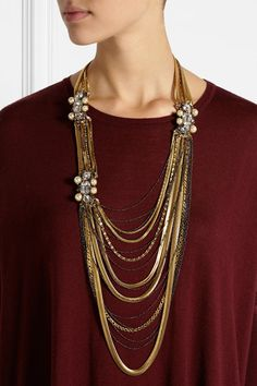 This necklace by Erickson Beamon is just dripping with beauty.