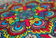 Someone was doing a bright color Mandala last Coloring Book Event.