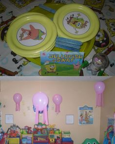 For Brandon's 5th birthday this year. Spongebob Party Game, Jellyfish Swat