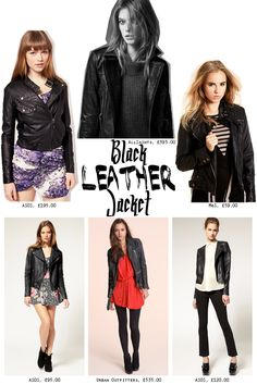 Black leather jacket fashion trend