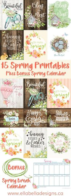 Looking for some beautiful Spring & Easter decor ideas for your home? Here are 15 Spring & Easter Printables to decorate your home! Pin this + click through to read more! Spring Home Decor, Spring Crafts, Spring Decorations, Easter Egg Designs, Pin On, Diy Ostern, Happy Spring, Hello Spring, Easter Crafts