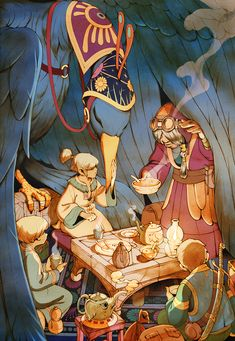 Kevin Hong. Chronostatic (working title), a personal illustration series involving three world-hopping kids