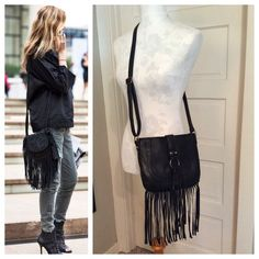 """Spotted while shopping on Poshmark: """"HP 12/17 Fringe bag""""! #poshmark #fashion #shopping #style #Handbags"""