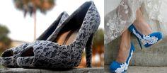 Zapatos transformados con accesorios. Zapatos con encaje Una opción es reciclar tus zapatos pegando con pegamento para tela, telas o piezas de encaje. Puedes forrarlas completamente o simplemente añadiendo una banda o una pieza donde tu zapato esté dañado.