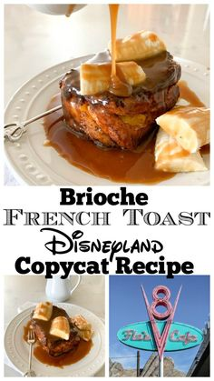 Brioche French Toast Disneyland Copycat Recipe - Disney Hungry This delicious Brioche French Toast is a spot-on Disneyland copycat recipe! Homemade salted caramel sauce plus buttery sweet brioche is a combination from heaven itself! Comida Disneyland, Best Disneyland Food, Disneyland Paris, Brioche French Toast, Best French Toast, Disney Inspired Food, Copycat Recipes, Clean Eating Snacks, Gourmet