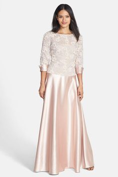 lace & satin gown