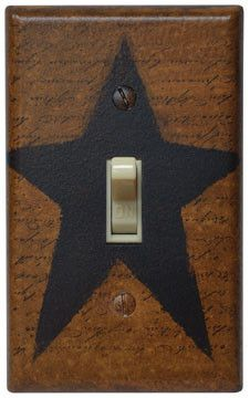 Black Star Switchplate Cover - Single