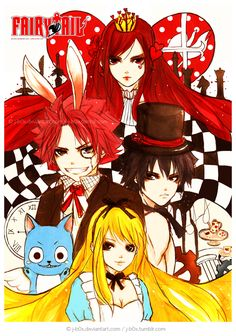 "Fairy Tail ""Alice in Wonderland""."