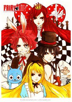 "Fairy Tail ""Alice in Wonderland""."